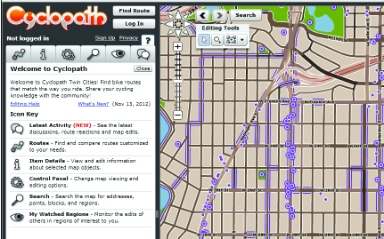 Cyclopath: OpenStreetMap for Biking